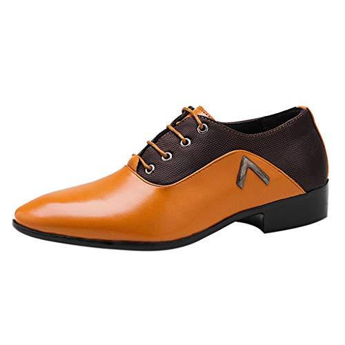 FeiBeauty Business Herren Anzugschuhe,Herren Uniform Berufsschuhe Elegant Businessschuhe Lederschuhe Hochzeit Schuhe Gr.38-48