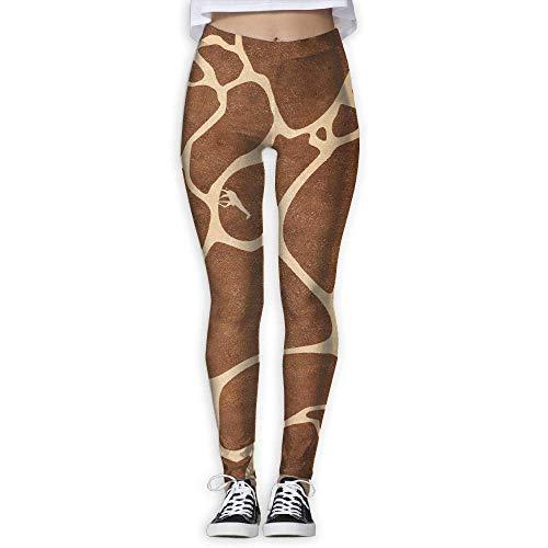 Aeykis Mädchen-Yoga-Hosen-Giraffen-Muster-hohe Taillen-Fitness-Trainings-Gamaschen-Hosen