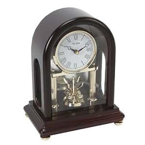 Marron foncé en forme d'horloge à balancier rotatif