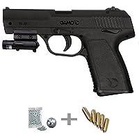 PX 107 LASER KIT Gamo Pistola de aire comprimido (CO2) y balines de acero (perdigones BBS) calibre 4.5mm. Réplica + accesorios <3,5J