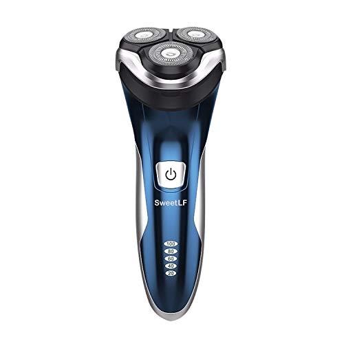 Rasierer Herren elektrische Rasierapparat mit Präzisionstrimmer Bartschneider Nass- & Trockenrasierer 100% wasserdicht & Poweranzeige