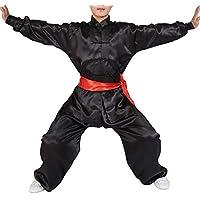 Yudesun Artes Marciales Ropa Unisex Adulto Niño Conjuntos - Tradición China Tai Chi Wushu Ropa Niños Niñas Rendimiento Traje Kung Fu Uniforme Negro 175cm