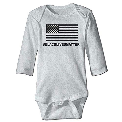 Unisex Newborn Bodysuits Blue Lives Matter Girls Babysuit Long Sleeve Jumpsuit Sunsuit Outfit Ash