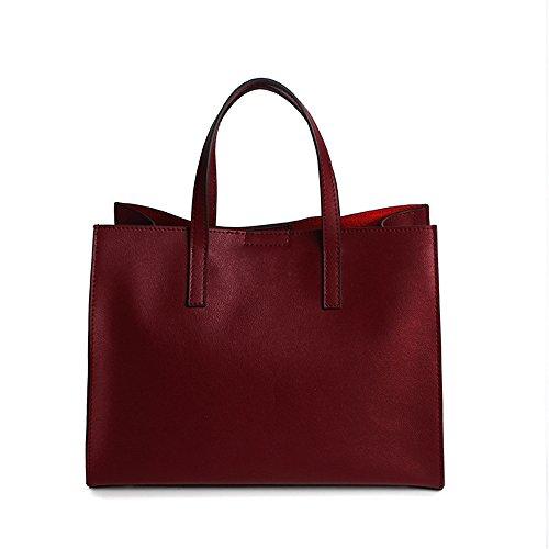 Anne , Damen Tote-Tasche blau rot Burgunderrot