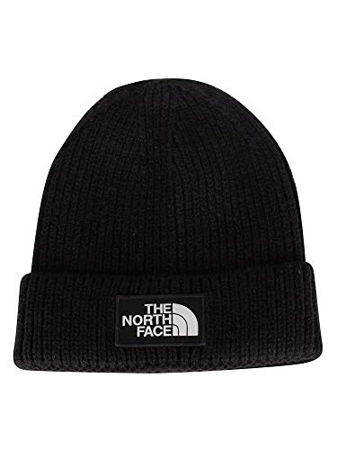 THE NORTH FACE Logo Box Cuff Beanie schwarz, OneSize - Frauen North Face Für Mützen
