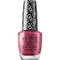 OPI Hello Kitty Nail Polish, Red Glitter, 15ml - Dream In Glitter