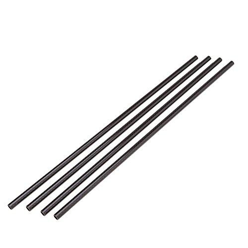 Rohr Pack (MagiDeal Pack of 4 Kohlefaser Rohr 8 * 6mm 330mm DIY Verschwunden Endrohr Oberfläche)
