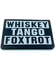 Whiskey Tango Foxtrot WTF Noir PVC Airsoft Patch
