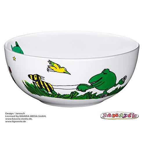 WMF Janosch Kindergeschirr Kinder-Müslischale, Ø 13,8 cm, Porzellan, spülmaschinengeeignet, farb- und lebensmittelecht