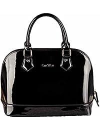 d622991383d18 AiSi Damen Lack Leder Handtasche Damenhandtasche   Schultertasche Henkeltasche mit Reißverschluss