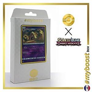 Trépassable (Palossand) 62/147 Holo Reverse - #myboost X Soleil & Lune 3 Ombres Ardentes - Box de 10 Cartas Pokémon Francés