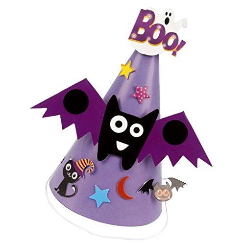 Schläger Halloween Kegel Hut Mütze Partyhüte Kostüm Zubehör für Cosplay Karneval und Kindergeburtstag ()