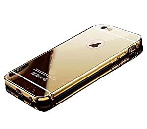 Johra for Apple iPhone 7 Back Cover, Gold Golden Acrylic Mirror Back Cover Case with Bumper Case for iPhone 7 Mirror Back Cover