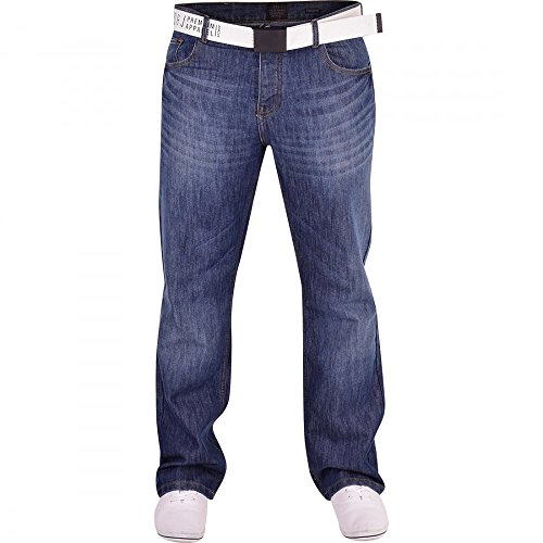 Smith and Jones Men's Designer Batusa Straight Leg Regular Fit Relaxed Denim Jeans Waist 34 Leg 32