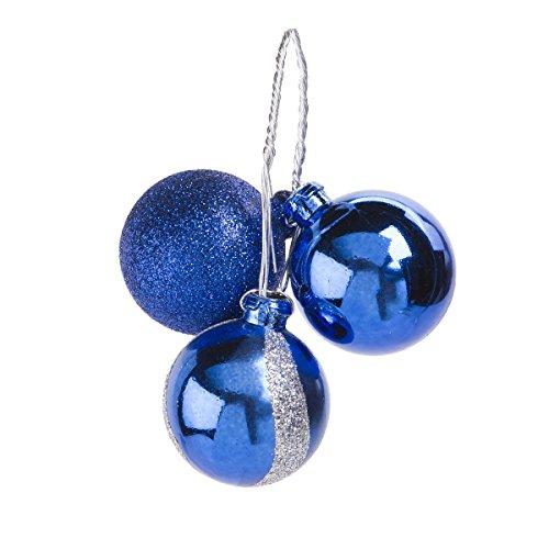 Darice Weihnachten blau geblümt und Silber Weihnachten Ornament Pick Wave 3Tipps