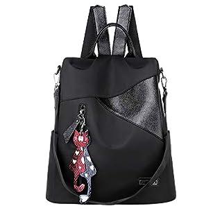 Women Ladies Solid Cat Pendant Messenger Handbag Totes Shoulder Backpacks Bags (Black)