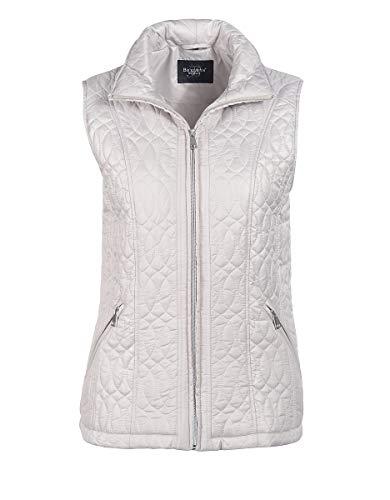 Bexleys by Adler Mode Damen Steppweste mit Reißverschlusstaschen - Pullunder, Weste, Westhover, Übergangsweste Beige 50 -
