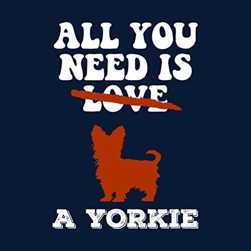 All You Need Is A Yorkie Women's Vest Navy blue