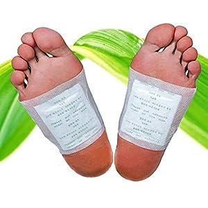 Bambus Fußpflaster Pads Wellnessprodukt für die Nacht mit Qualitativ hochwertigem Turmalin und 100% natürlich
