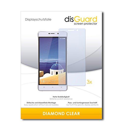 3 x disGuard® Schutzfolie Gionee Marathon M4 Bildschirmschutz Folie
