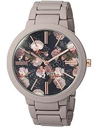 Nine West Analogue Black Dial Matte Mauve Rubberized Bracelet Women's Watch - NW/2096BKGY