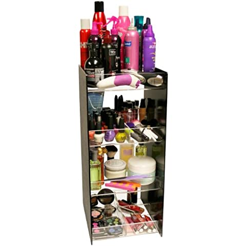 Cosmetic Organizer Tower...24 Tall! with 4 Crystal Clear Thick Acrylic Shelves. Only 10 of Counter (40 Counter)
