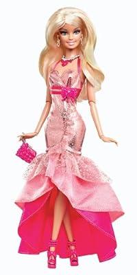 Mattel Barbie Y7496 - Muñeca Barbie con vestido de gala y accesorios, color rosa de Barbie