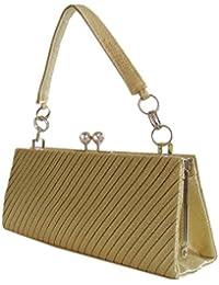 Damen Handtasche Clutch-Abendtasche,22x 9 cm Gold