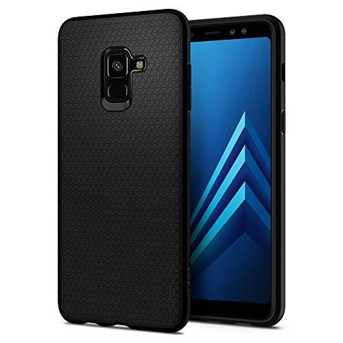 Spigen 590CS22747 Liquid Air für Samsung Galaxy A8 2018 Hülle Soft Flex Silikon TPU Schutzhülle Case - Schwarz