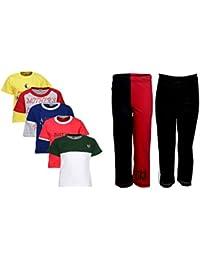 Gkidz Pack of 7 Boys MND 5Pack Tee & Boys 2Pack Fashion Full Pant Combo Pack