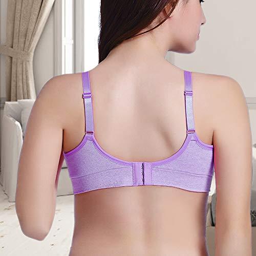 Rovtop 3 Stück Still-BHS für Frauen Nahtloser Schwangerschafts-BH Abnehmbarer gepolsterter Schlaf Komfortabel zum Stillen mit kostenlosen Stillkissen und BH-Extendern (Größe M) - 4