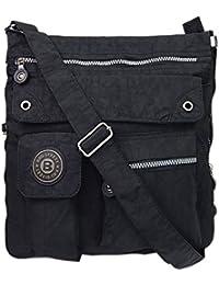 4556cbbc48bd3 Bag Street 2221 Damen sportliche Handtasche Umhängetasche Schultertasche  aus Nylon