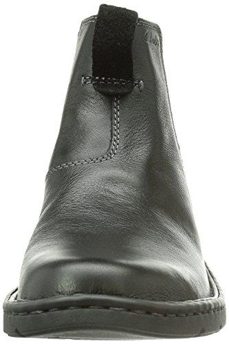 Clarks Stratton, Stivaletti Beatles Uomo Nero (Schwarz (Black Leather))