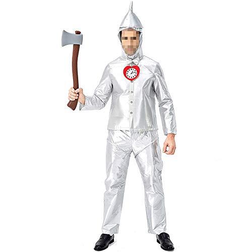 YyiHan Halloween Kostüm, Outfit Für Halloween Fasching Karneval Halloween Cosplay Horror Kostüm,blechmann Kostüm Für Erwachsene Männchen Grünes Unsterbliches (Professionelle Burlesque Kostüm)