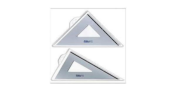 45 Gradi In Alluminio Linea 2w Fara Squadra Cm.31 Millimetrata Sui Due Cateti