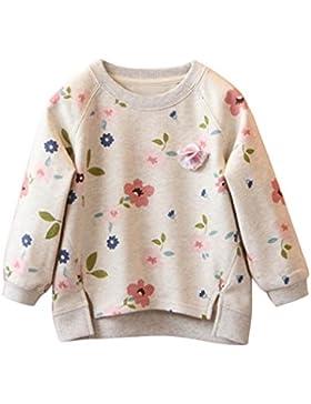Mädchen Langärmeligen Pullover Mantel Outwear Sweatshirt Langarmshirt Kleidung Kleinkind Kinder Baby Mädchen Blumendruck...