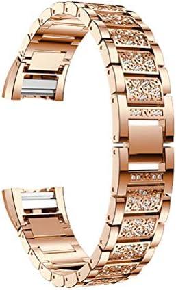 Hemobllo Bracelet de Montre avec avec avec Bracelet en Acier Inoxydable, Compatible Fitbit Charge 2 (Or Rose) 311f94