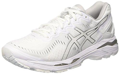 Asics Men's Gel-Kayano 23 Running Shoes, White (White/Snow/Silver), 9 UK 44 EU