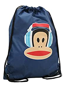 Back to School Paul Frank Julius the Monkey Navy Drawstring Bag - for PE or Swimming