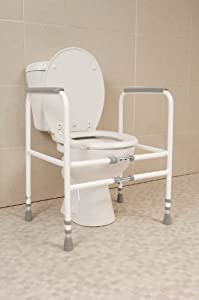 NRS Healthcare M00870 Free Standing Toilet Frame - Width & Height Adjustable (Eligible for VAT relief in the UK)