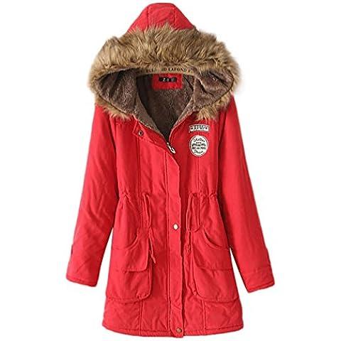 LvRao Mujer - abrigos y parkas para invierno - abrigos con capucha - largo espesan chaquetas - 10