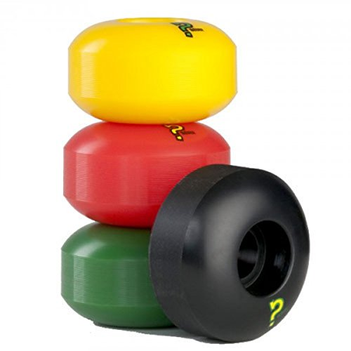 Enuff Skateboard Profi Wheel Set (4 Rollen) Rasta - Skateboard Wheels 53mm/101A