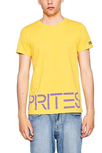 ESPRIT Herren T-Shirt Gelb (Yellow 750)