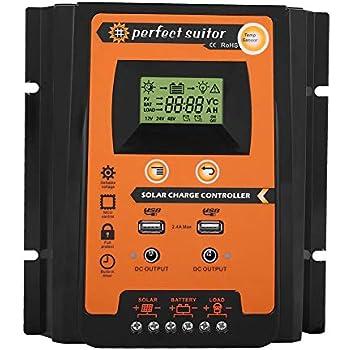 30A 50A 70A 12V 24V MPPT Solarpanel-Ladegerät-Controller Batterieregler und USB