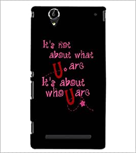 PrintDhaba Quote D-4901 Back Case Cover for SONY XPERIA T2 ULTRA (Multi-Coloured)