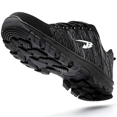 a161a3de524 UnPtios Lightweight Safety Shoes Unisex Steel Toe Cap Breathable Men Women  Protective Work Trainer Shoes (8 UK, Black01)