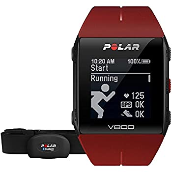 POLAR Pulsuhr V800 HR, red, 90060774: Amazon.de: Sport