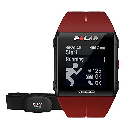 POLAR Pulsuhr V800 HR, red, 90060774