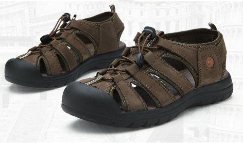 Dayiss® Herren Jungen Leder Sandalen Sport- & Outdoor Schuhe Sandaletten Cyan