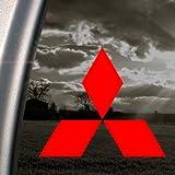 Mitsubishi Diamond Red decalcomania adesiva per finestre, auto, camion, colore: rosso